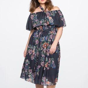 Gorgeous floral midi plus size dress